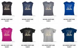 T-Shirts aus dem Online-Shop mit neuem Logo