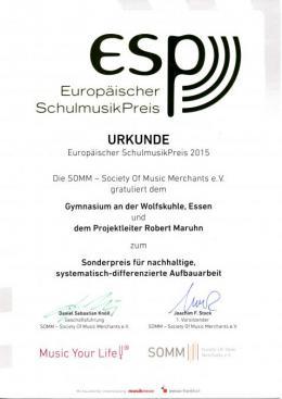 ESP-Urkunde