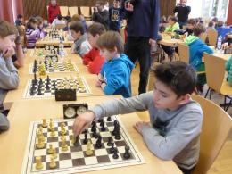 Mitglieder der Schach-AG bei den Schul-Stadtmeisterschaften 2014